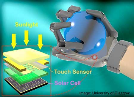 Solar Powered Synthetic Skin For Robotics and Prosthetics
